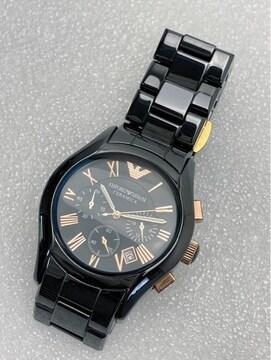 T367 エンポリオアルマーニ クロノグラフ QZ メンズ腕時計