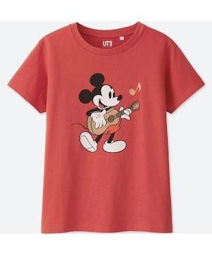 ユニクロ ミッキーマウス UT 半袖tシャツ 赤 M レッド