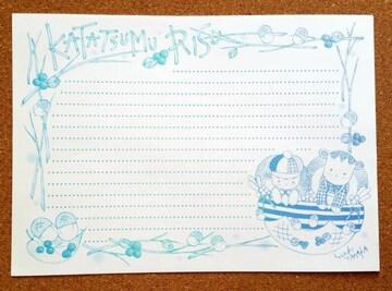 オリジナル便せん《E》★手描きイラスト便せん★カントリー系★B5サイズ15枚