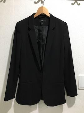 新品 H&M ジャケット スーツ アウター 黒 ブラック コート
