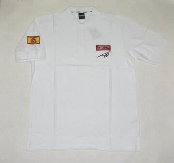 1セール! フェラーリ ロゴ  白ポロシャツM  f133