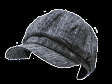 送料無料 N173 COTTON 麻 混 キャスケット 帽子 Cap グレー