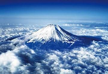 色富士山~空撮~ 1000ピース ジグソーパズル 富士山空撮 マイク