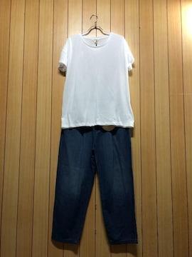 新品タグ付きアースUSAデニムP & studio CLIP Tシャツ
