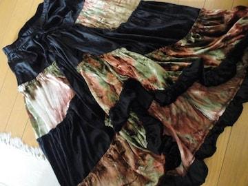 【お嬢様系】 変形ベロアロングスカート