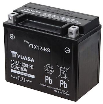 シールド型 バイク用バッテリー YTX12-BS