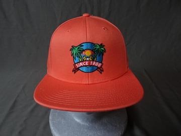 USA購入 アメカジ VANS 南国夕暮れヤシの木イラスト刺繍CAP