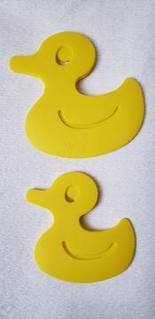 シリコンスケッパー 2枚セット アヒルの形 かわいいduck used お菓子作り・料理
