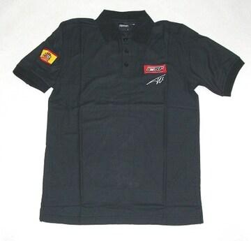 1セール! フェラーリ ロゴ  黒ポロシャツ XL  f135