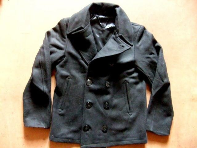 海軍 復刻モデル COOLな ピーコート ブラック 黒 M  < 男性ファッションの