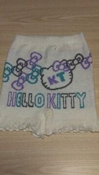 新品 Hello  Kitty防寒あったかニットパンツ(M〜L)白