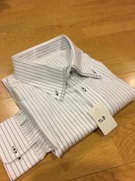 MARIO ESPERANZA ビジネスストライプYシャツ  size7LB  3XL  2