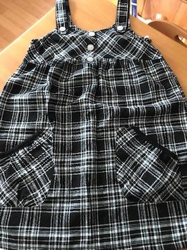 (*^_^*)チェックジャンパースカート*160�p*