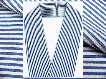 少々難有 小紋柄のオシャレな半衿 1 白地・線柄 新品