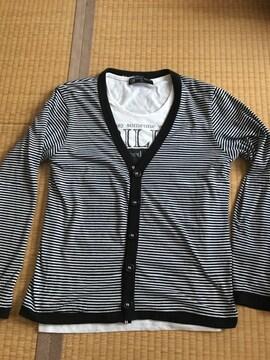 オーバルダイス OVAL DICE 半袖Tシャツ付 長袖カーディガンset
