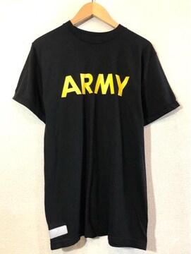 U.S.ARMY■トレーニングTシャツ■USA製■アメリカ軍■APFU■黒