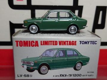 ★トミカリミテッドヴィンテージLV-58★トヨタ カローラ1200 4ドアセダン★