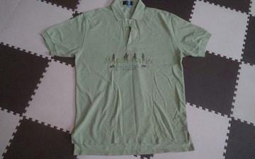 グリーン 半袖ポロシャツ 美品 クリーニング済み