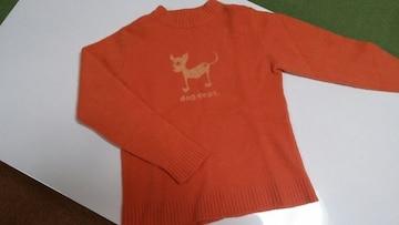 DOG DEPT セーター140�p オレンジ