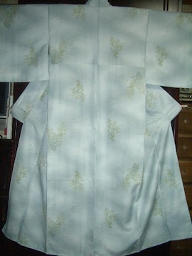 水縹色花器花束紋様 袷の洗えるお着物 未使用品