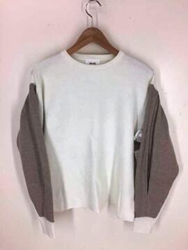 RIM.ARK(リムアーク)Bi-color sleeve knit tops バイカラースリーブ プルオーバー