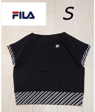 FILAレデース 速乾Tシャツ ブラックサイズS