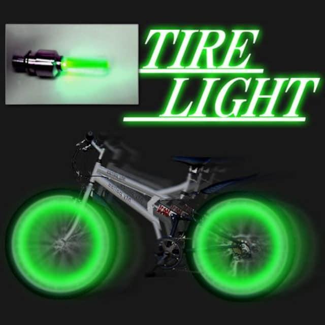 LEDホイールフラッシュ☆グリーン☆4個1セット < 自動車/バイク