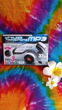 ワイヤレス★mp3★32GB★ヘッドホン★ラジオも♪