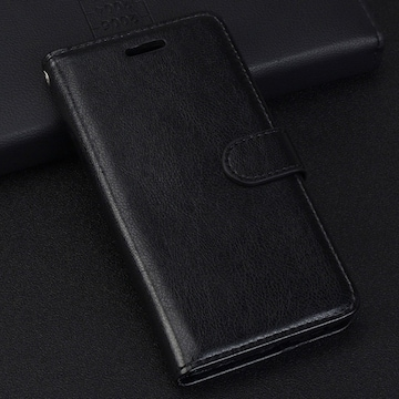 iPhoneXR 手帳型ケース レザー フィルム 携帯ケース ブラック