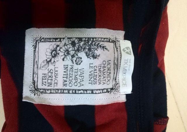 レディースTK☆タケオキクチネイビーレッドストライプ半袖シャツ < ブランドの