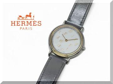 ☆HERMES☆エルメス メテオール メンズクオーツ腕時計