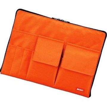 ★送料無料★ バッグインバッグ 整理 A4 橙 他カラー有