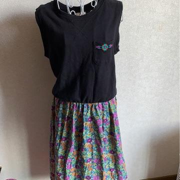 チチカカ★カラフル★花柄ロングワンピ★フリーサイズ