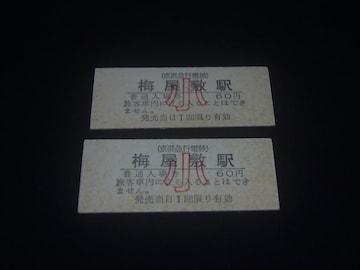 ★京浜急行 梅屋敷駅 子 入場券2枚セット