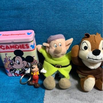 ディズニー☆ケース★人形★キーホルダーセット