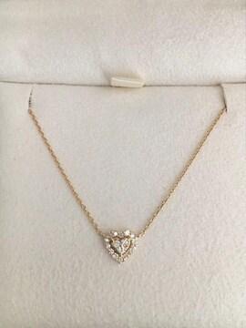 ヴァンドーム青山 ダイヤモンド ハート ネックレス K18YG 1.5g