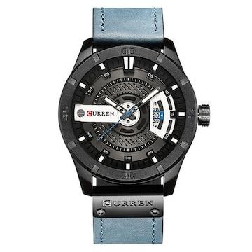 腕時計 メンズ アナログ ビジネス 日付 ブルー