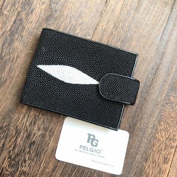 PELGIO スティングレイ エイ革 ガルーシャ 二つ折り財布