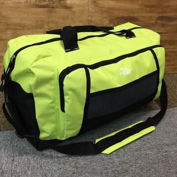2WAY 大容量 ボストンバッグ 旅行用 男女兼用 新品 ライトGRN