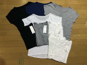 ★GU(ジーユー)★無地Tシャツ◎9点セット♪