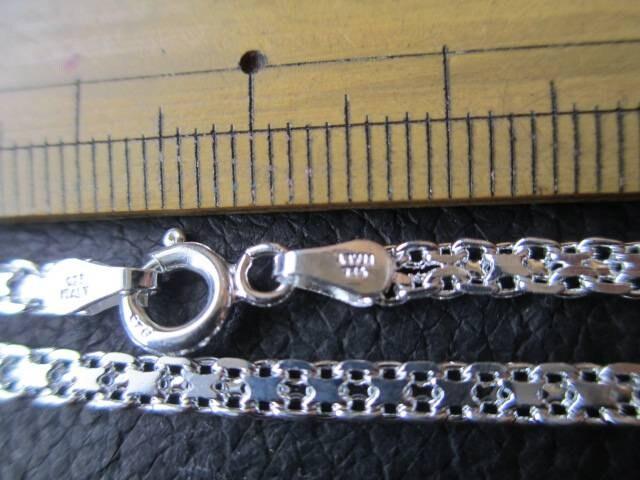 イタリア製シルバー925チェーン 3.3mm 60cm 9.6g *Bismark050 < 男性アクセサリー/時計の