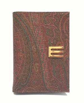 正規美品エトロ手帳カバーペイズリー差し込み式ETROレ