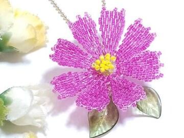 *「秋桜」*赤紫・ボールチェーン