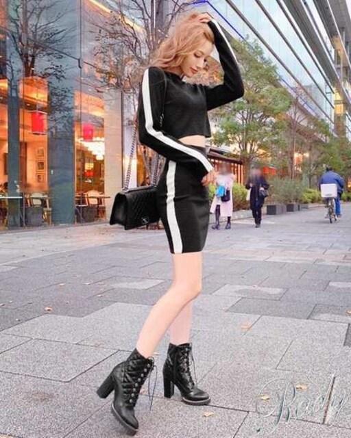 Rady☆大人気即完売☆サイドラインセットアップ☆ブラック×ホワイト☆S☆新品タグ < ブランドの
