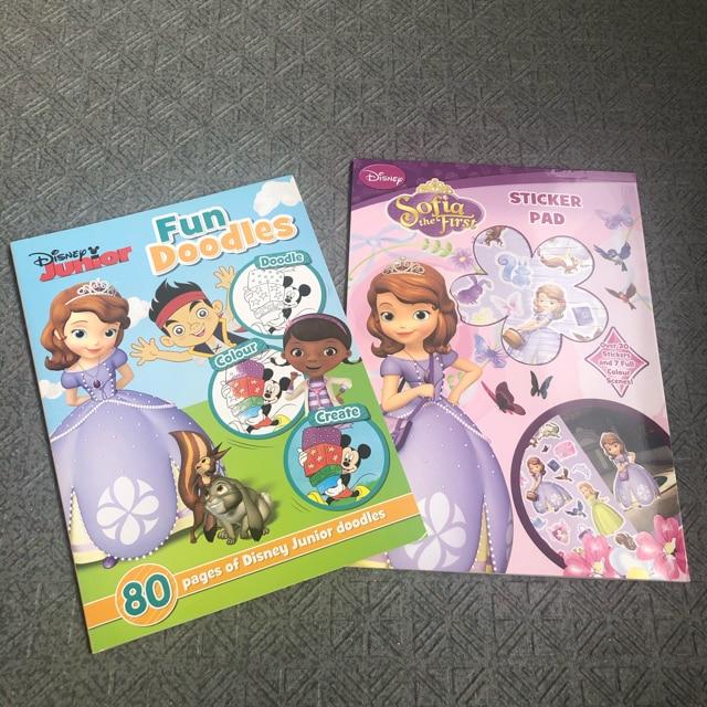 新品 英語知育 ディズニー プリンセス  塗り絵 ステッカー  < おもちゃの
