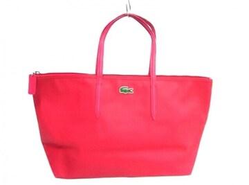 ラコステ Lacoste ハンドバッグ トートバッグ 赤色レッドピンク