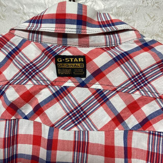 【G-STAR RAW/ジースターロゥ】チェック柄 半袖シャツ(sizeL) < ブランドの