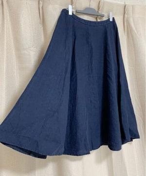 ユナイテッドアローズ 紺 ネイビー  ロングスカート