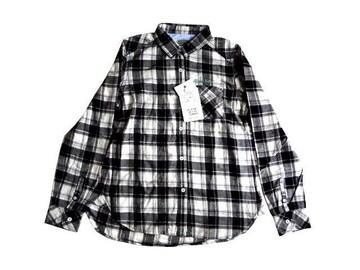 新品 定価4900円 ニコル NICOLE 黒 チェック柄 シャツ ブラウス