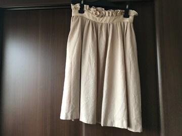 定価約12,000円 トランテアン ハイウェストスカート  毛100% S